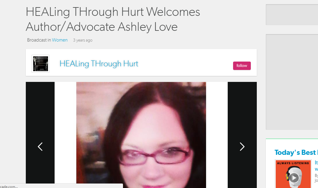 {Throwback Interview} HEALing THrough Hurt Welcomes Author/Advocate AshleyLove